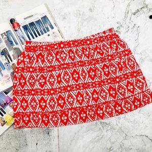 J Crew Summer Tribal Print Skirt